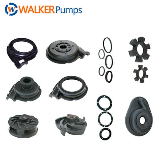 slurry pump rubber part list