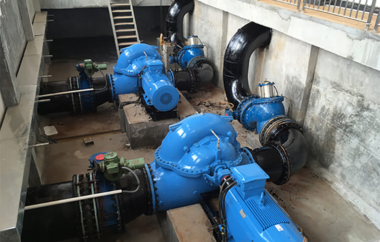 Horizontal Centrifugal Pumps for Water Supply Company