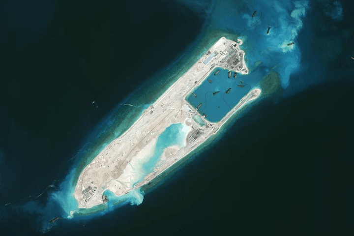 Reef after China converted it into an island