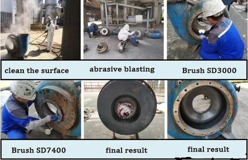 Slurry Pump Shell Wear Repair – With Photo